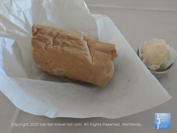 Cuban bread and butter at Columbia Restaurant Sand Key