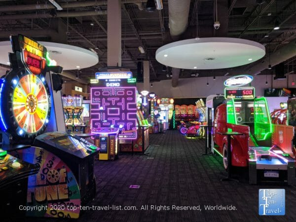 Arcade and ticket redemption games at Dave and Busters in Orlando, Florida