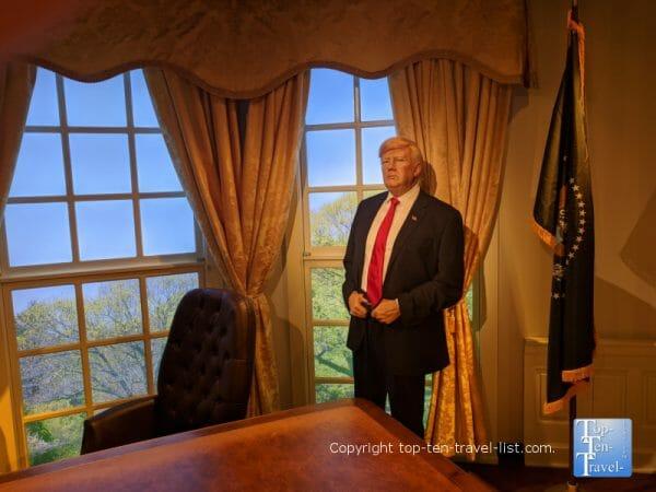 Trump wax figure at Madame Tussauds in Orlando, Florida