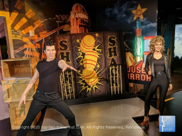 Grease scene at the Hollywood Wax Museum at Icon Park in Orlando, Florida