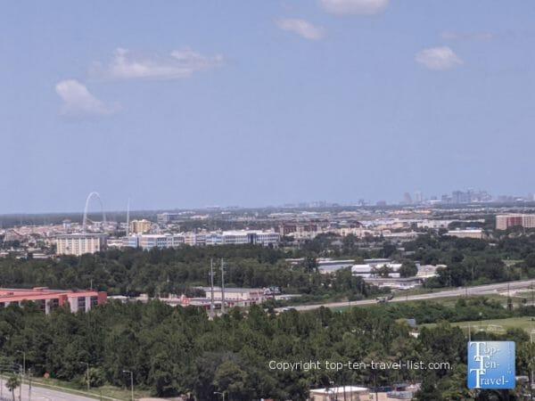Pretty scenery via the Icon Park Ferris Wheel in Orlando, Florida