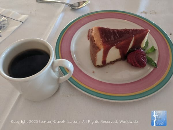 Guava cheesecake at Columbia Restaurant at Sand Key