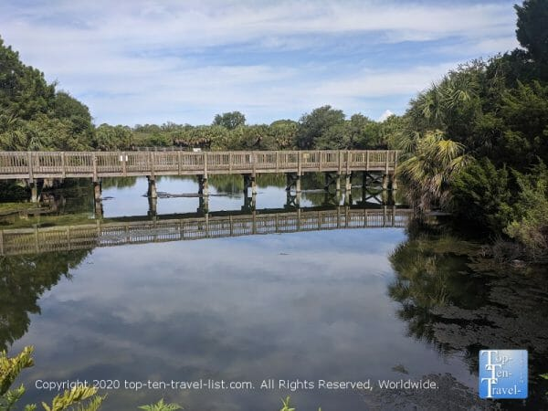Old mineral springs area at Wall Springs Park in Palm Harbor, Florida