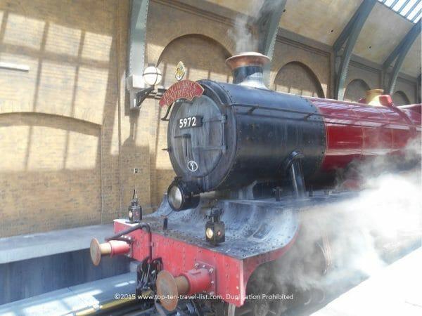 Hogwarts Express train ride at Universal Studios in Orlando, Florida
