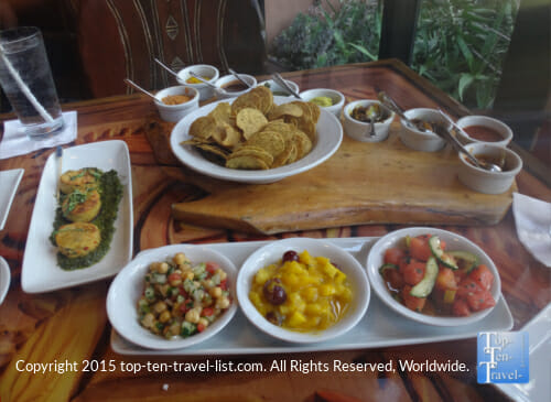Indian bread service at Disney's Animal Kingdom Lodge Sanaa restaurant