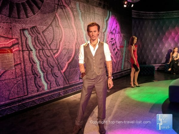 Johnny Depp wax figure at Madame Tussauds in Orlando, Florida