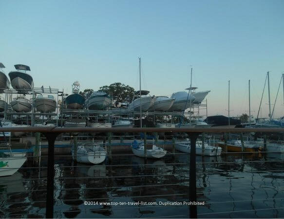 Scenic marina view from Ozona Blue in Palm Harbor, Florida