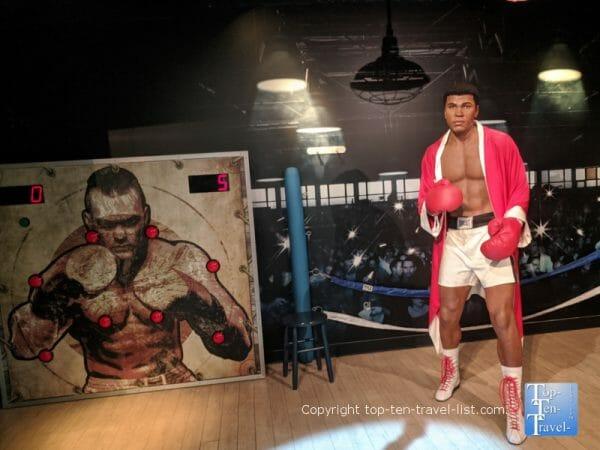 Muhammad Ali wax figure at Madame Tussauds in Orlando, Florida