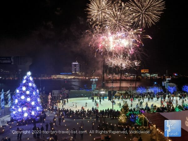 NYE party at Winterfest in Old City Philadelphia