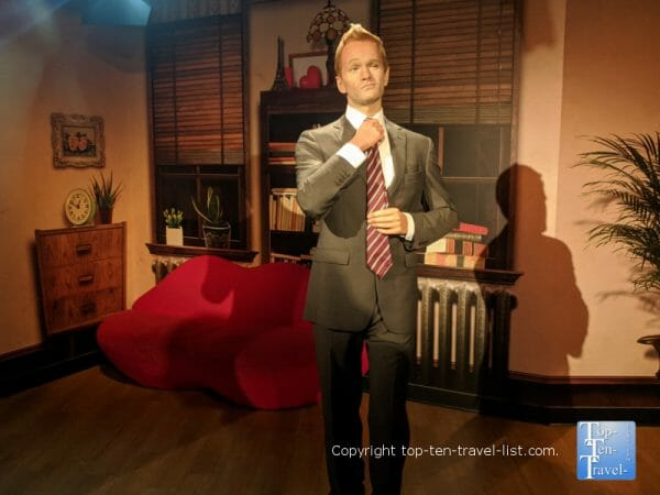 Neil Patrick Harris wax figure at Madame Tussauds in Orlando, Florida