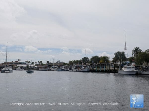 Pretty scenery along the Dolphin Adventure cruise in Tarpon Springs, Florida