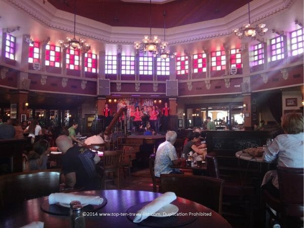 Live step dancing performances at Raglan Road Irish Pub at Disney Springs in Orlando, Florida