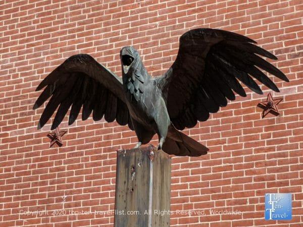 Raven statue at the Edgar Allan Poe house in Philadelphia