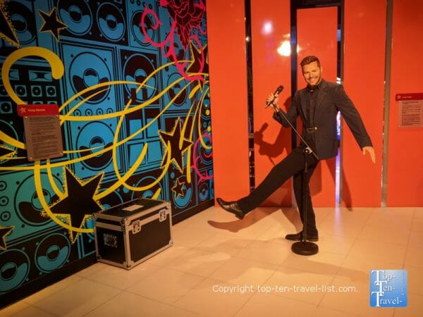 Ricky Martin wax figure at Madame Tussauds in Orlando, Florida