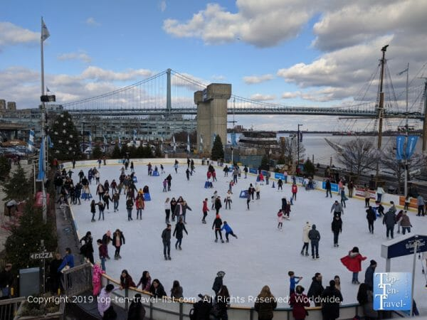 River rink at Penn's Landing in Old City Philadelphia