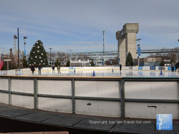 Riverrink ice skating rink in Philly