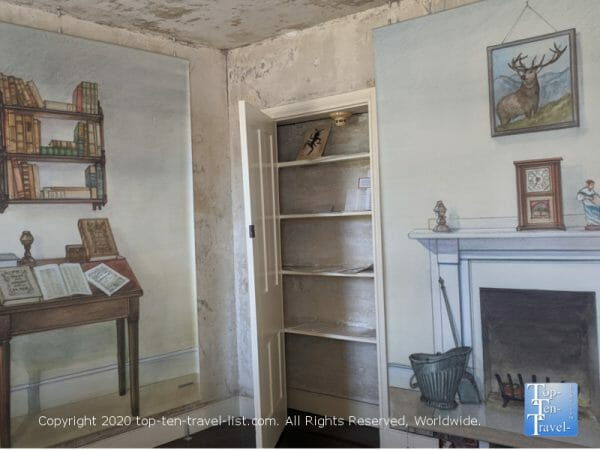 Room in the Edgar Allan Poe house in Philadelphia