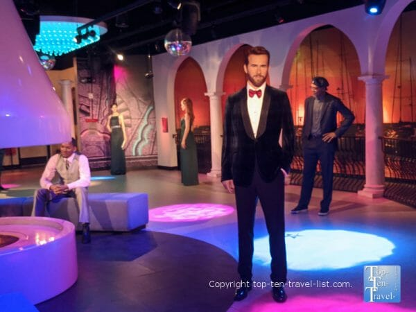 Ryan Reynolds wax figure at Madame Tussaud's in Orlando, Florida