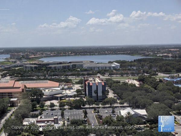 Scenic vista from the Icon Park Ferris Wheel in Orlando, Florida