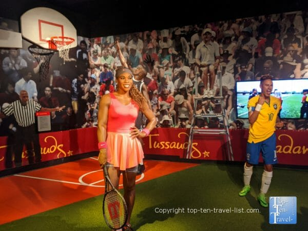 Serene Williams wax figure at Madame Tussauds in Orlando, Florida
