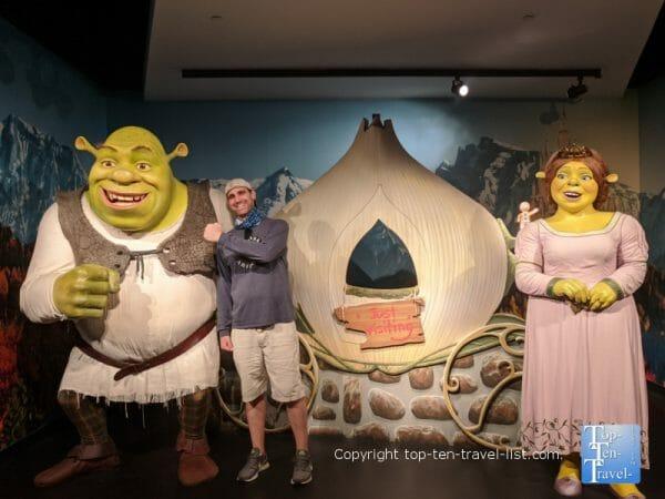 Shrek movie wax scene at Madame Tussauds in Orlando, Florida