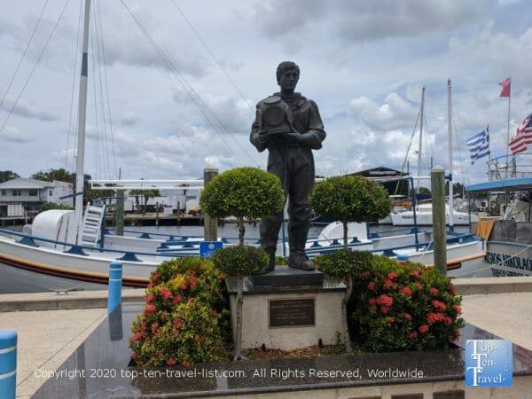 Sponge diver statue in Tarpon Springs, Florida