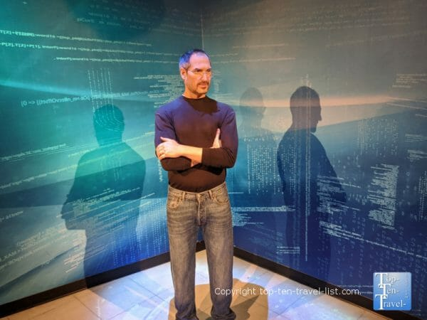 Steve Jobs wax figure at Madame Tussauds in Orlando, Florida