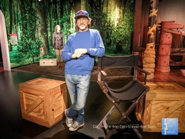 Steven Spielberg wax figure at Madame Tussauds in Orlando, Florida