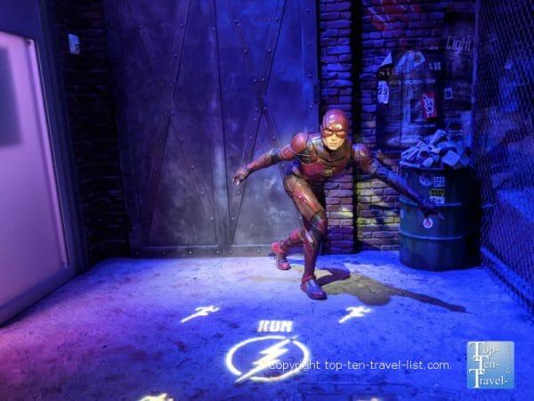 Superhero wax figure at Madame Tussauds in Orlando, Florida