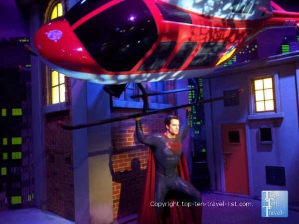 Superman wax figure at Madame Tussauds in Orlando, Florida