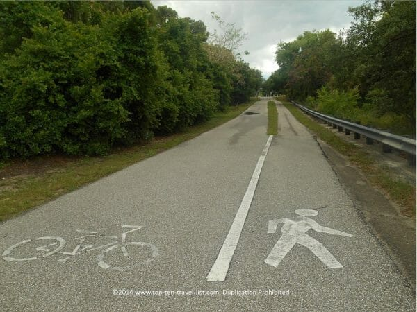 The Pinellas trail in Palm Harbor, Florida