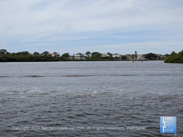 Tranquil scenery along the Dolphin Adventure cruise in Tarpon Springs, Florida