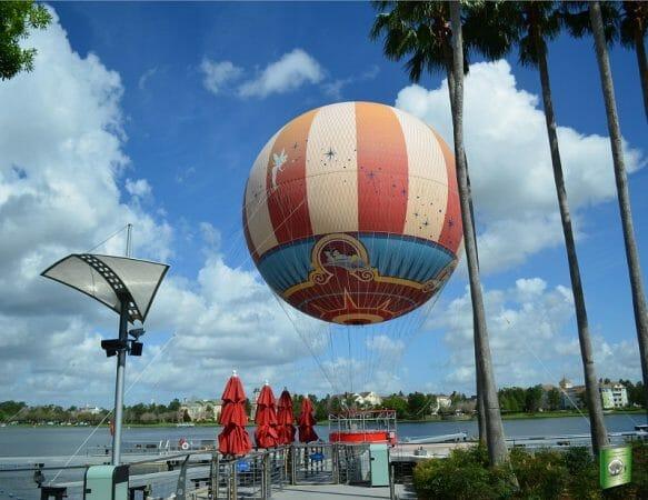 Hot air balloon ride at Disney Springs in Orlando, Florida