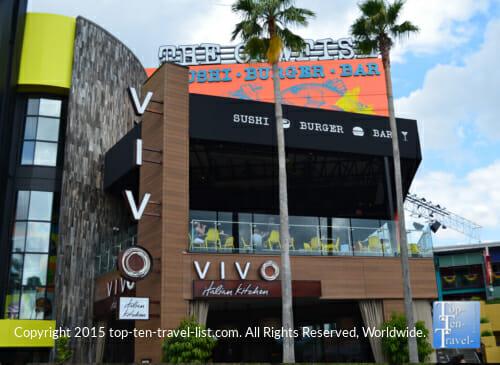 Vivo Italian Kitchen at Universal City Walk in Orlando, Florida