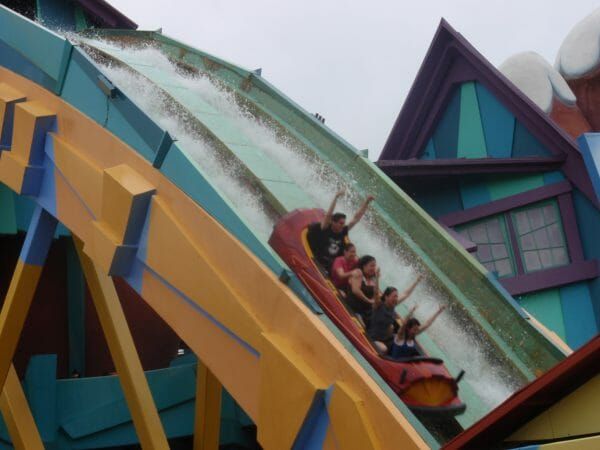 Dudley Do Right's Ripsaw Falls water ride at Universal's Islands of Adventure