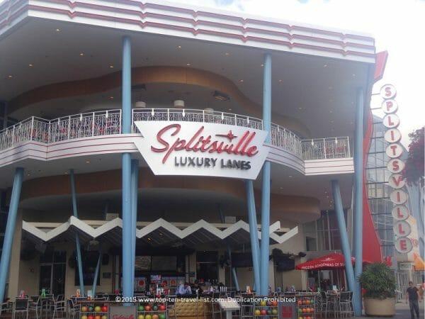 Splitsville Luxury Lanes bowling at Disney Springs in Orlando, Florida