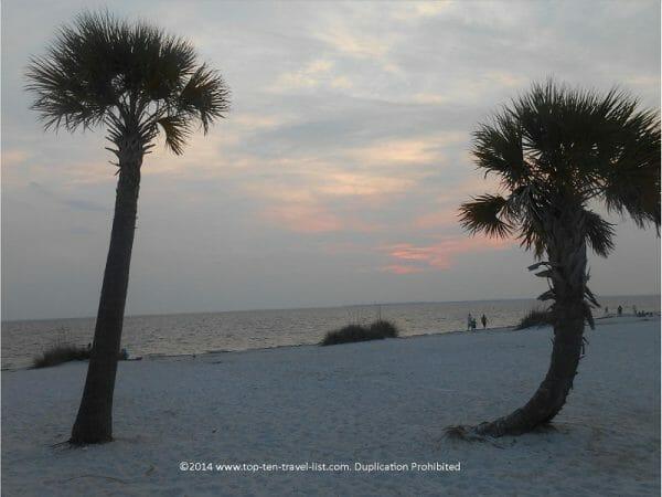 Fred Howard beach in Tarpon Springs, Florida