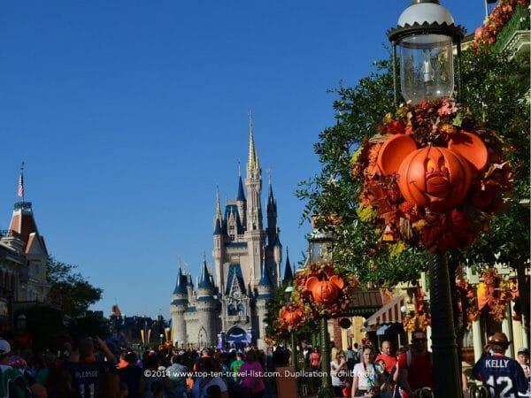 Halloween decor at Walt Disney World in Orlando, Florida