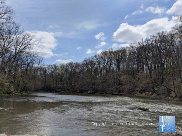 Beautiful Neshaminy Creek in Tyler State Park in Bucks County, PA