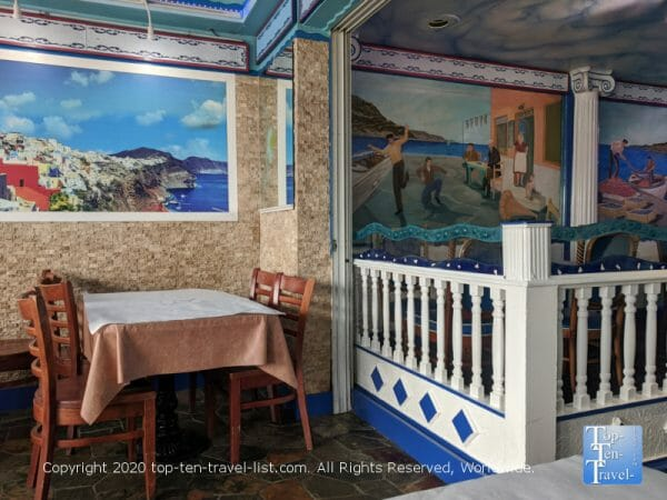 Nice ambiance at Hellas Greek restaurant in Tarpon Springs, Florida