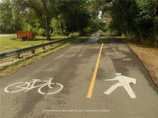 Pinellas Trail bike path near Dunedin, Florida