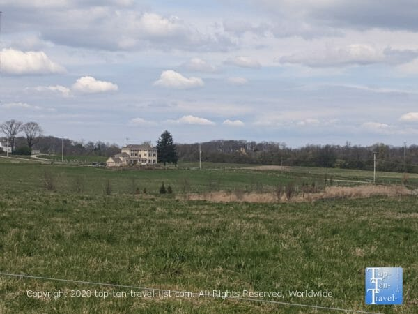 Beautiful countryside scenery at Dixon Meadow Preserve in Lafayette Hill, PA