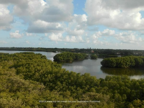 Scenic views of the Bay at Weedon Island Preserve in St. Petersburg, Florida