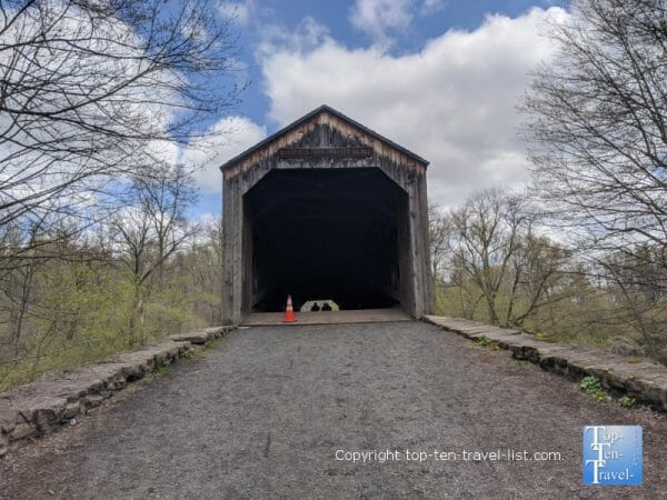 Schofield Covered bridge at Tyler State Park in Bucks County, Pennsylvania