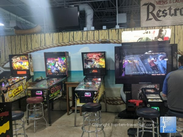 Pinball games at Treasure Island Family Fun Center - the largest arcade on Florida's Gulf Coast