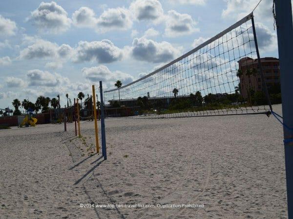 Volleyball nets on Treasure Island Beach on Florida's Gulf Coast