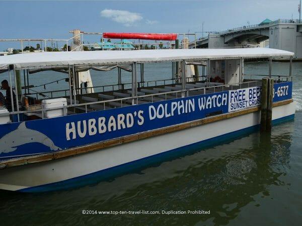 Dolphin watch at St. Johns boardwalk in Madeira Beach, Florida