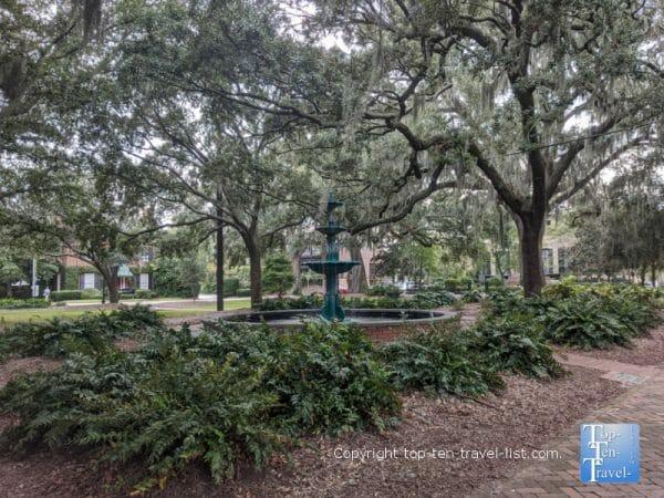 Lafayette square in Savannah, Georgia