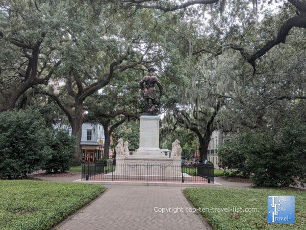 Beautiful Chippewa Square in Savannah, Georgia