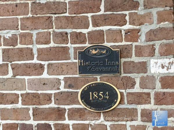 The East Bay Inn - one of the 6 historic inns of Savannah, Georgia